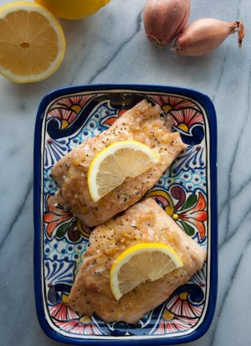 Salmon with Lemon Shallot Butter - Salt & Lavender