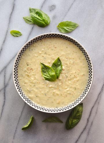 Basil & Garlic White Bean Dip