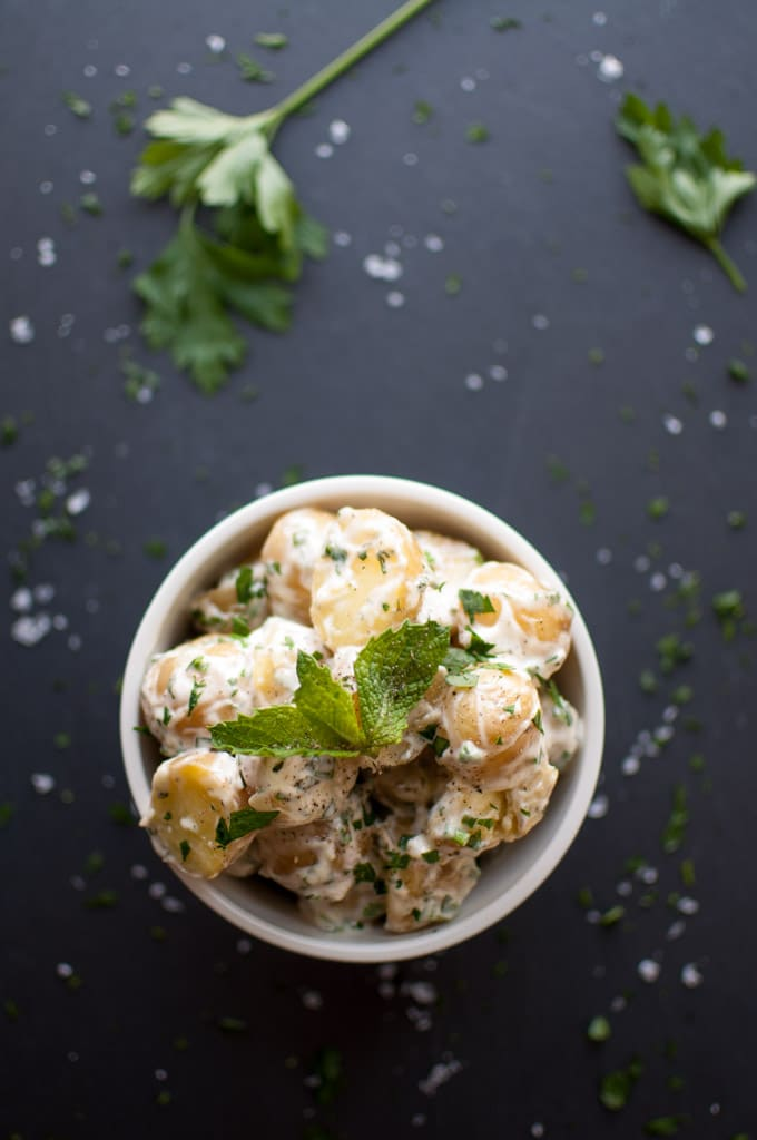Baby Potato Salad - fresh herbs make this side dish perfect for any occasion! - Salt & Lavender
