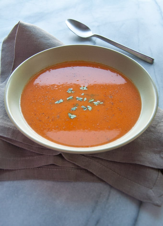 Roasted Tomato and Tarragon Soup - Salt & Lavender