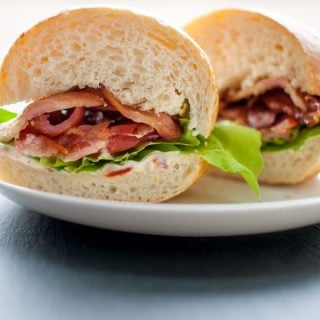 BLT with Garlic and Sun-dried Tomato Mayo - Salt & Lavender