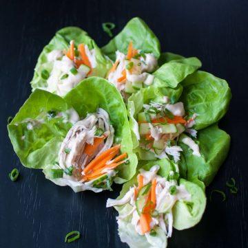 Asian Inspired Chicken Lettuce Wraps - Salt & Lavender