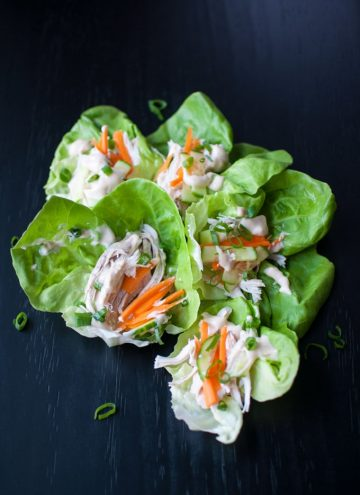 Asian Inspired Chicken Lettuce Wraps - Salt & Lavender