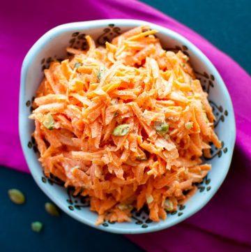 Crunchy Carrot Salad with Pumpkin Seeds - Salt & Lavender