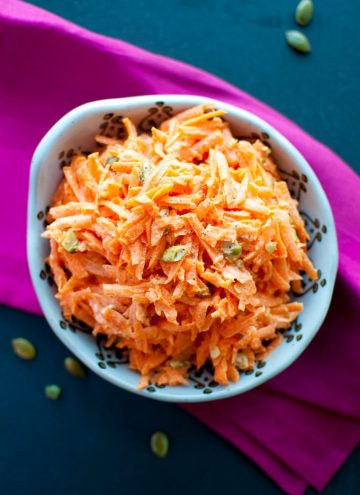Crunchy Carrot Salad with Pumpkin Seeds - Salt & Lavender