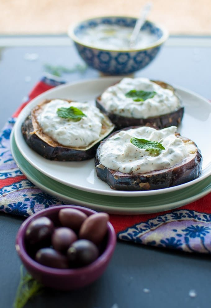Fried Eggplant with Tzatziki - Salt & Lavender