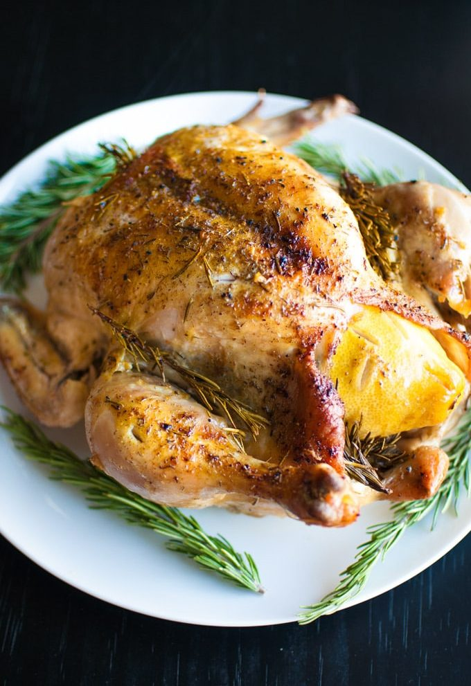 Easy Roast Chicken with Lemon and Rosemary - Salt and Lavender
