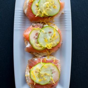 Smoked Salmon Canapes with Easy Truffle Mayo