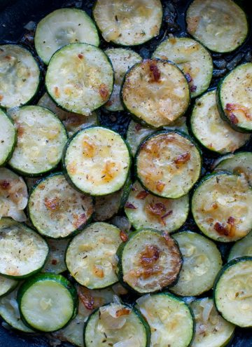Zucchini with Onions - Salt & Lavender