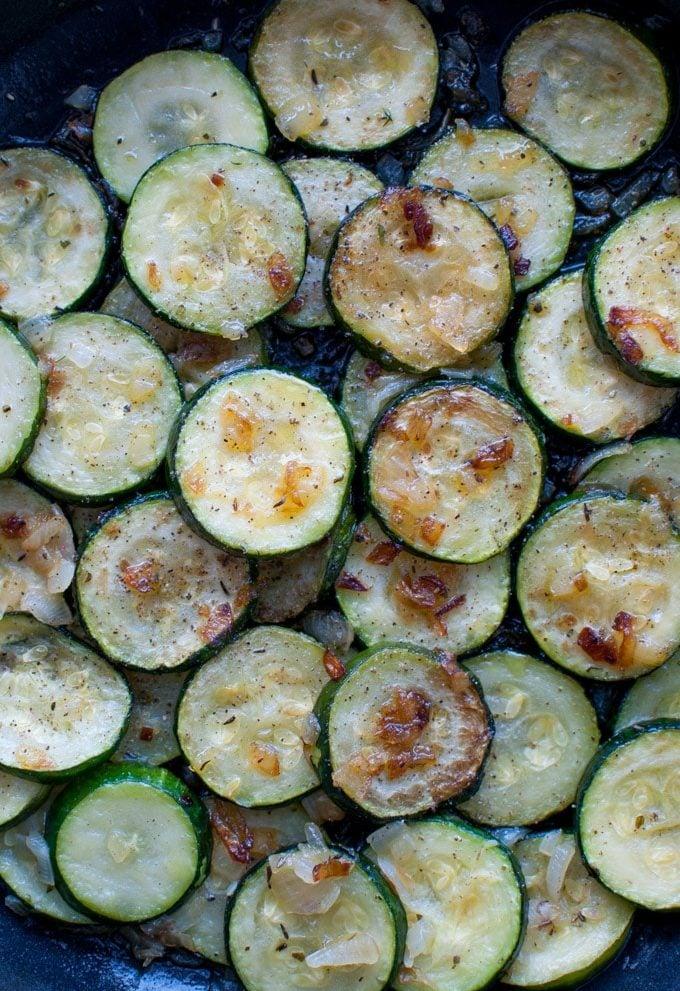 Zucchini with Onions - Salt & Lavender