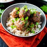 Crockpot Cranberry and Orange meatballs - an easy, comforting meal with tender pork meatballs and a sweet and sour sauce. - Salt & Lavender