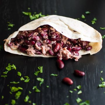 Tuna, Beans and Onions in a Pita - Salt & Lavender