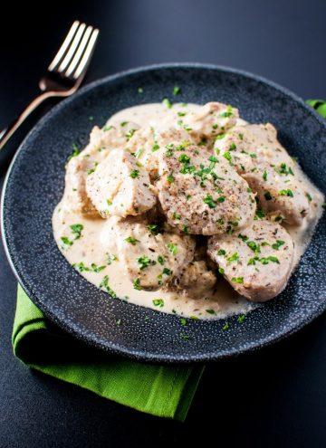 Tender pork smothered in a dijon sauce - ready in half an hour!