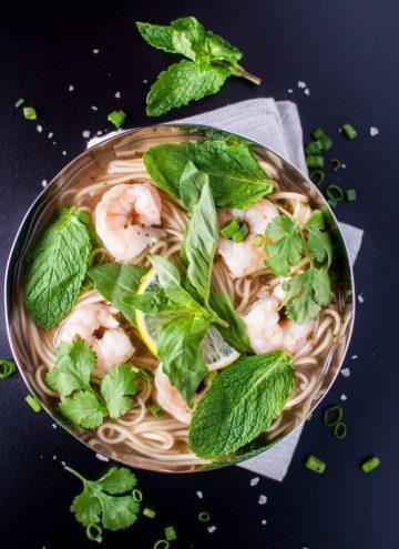 Asian Style Shrimp and Noodle Soup