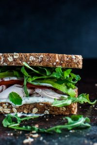 The best leftover chicken sandwich is the best because of it's amazingly delicious herb mayo, the creamy avocado, the peppery arugula, and ripe tomato. Don't take my word for it. Make it and see!
