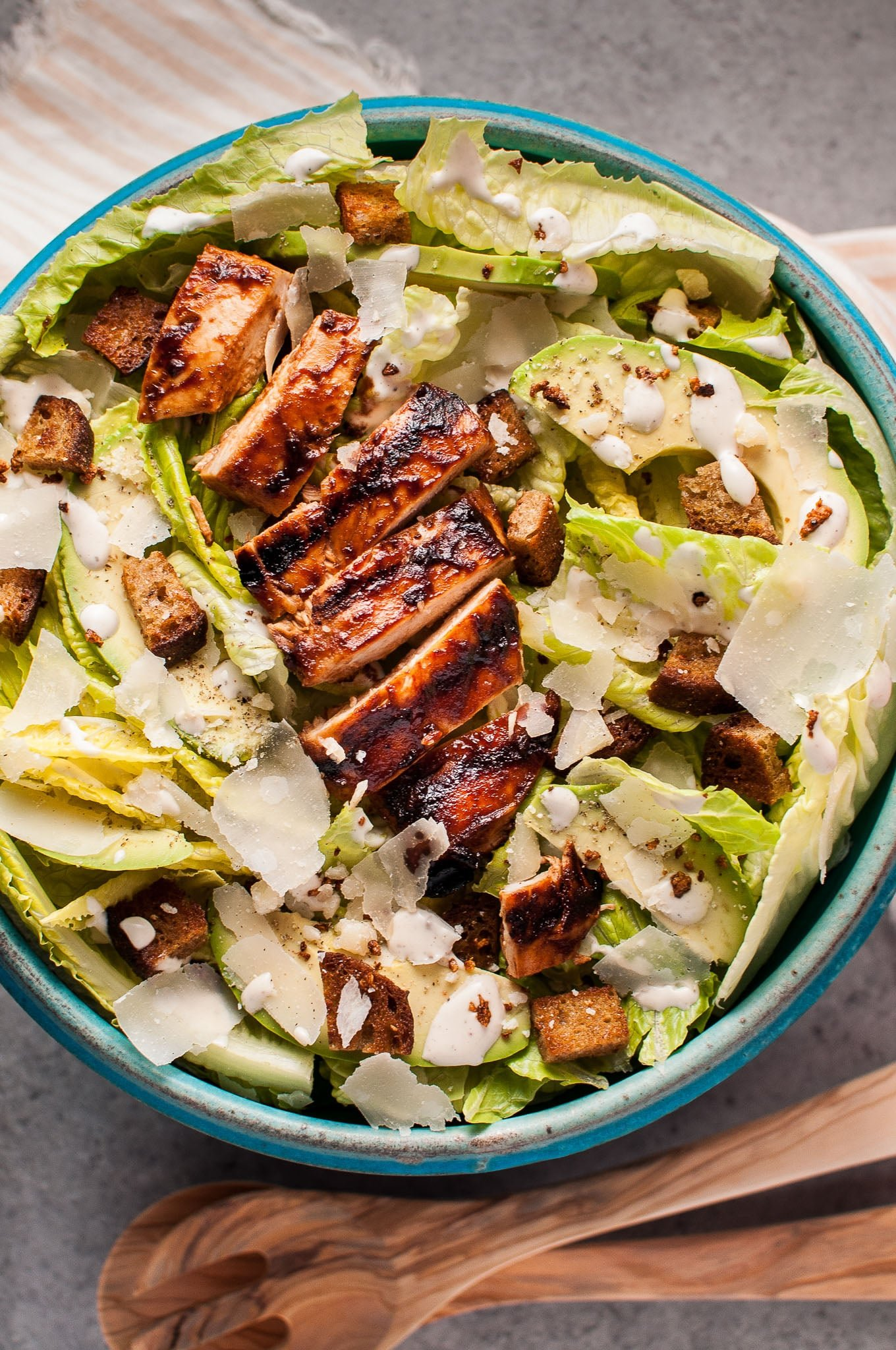 Bbq Chicken Caesar Salad Salt Lavender