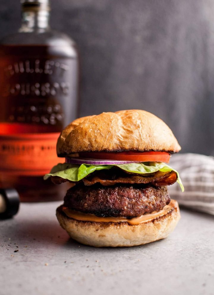 Why drink bourbon when you can use it to make this amazing BBQ bourbon burger?