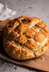 Parmesan and garlic butter pull apart bread is a deliciously cheesy and comforting appetizer that everyone is sure to love!