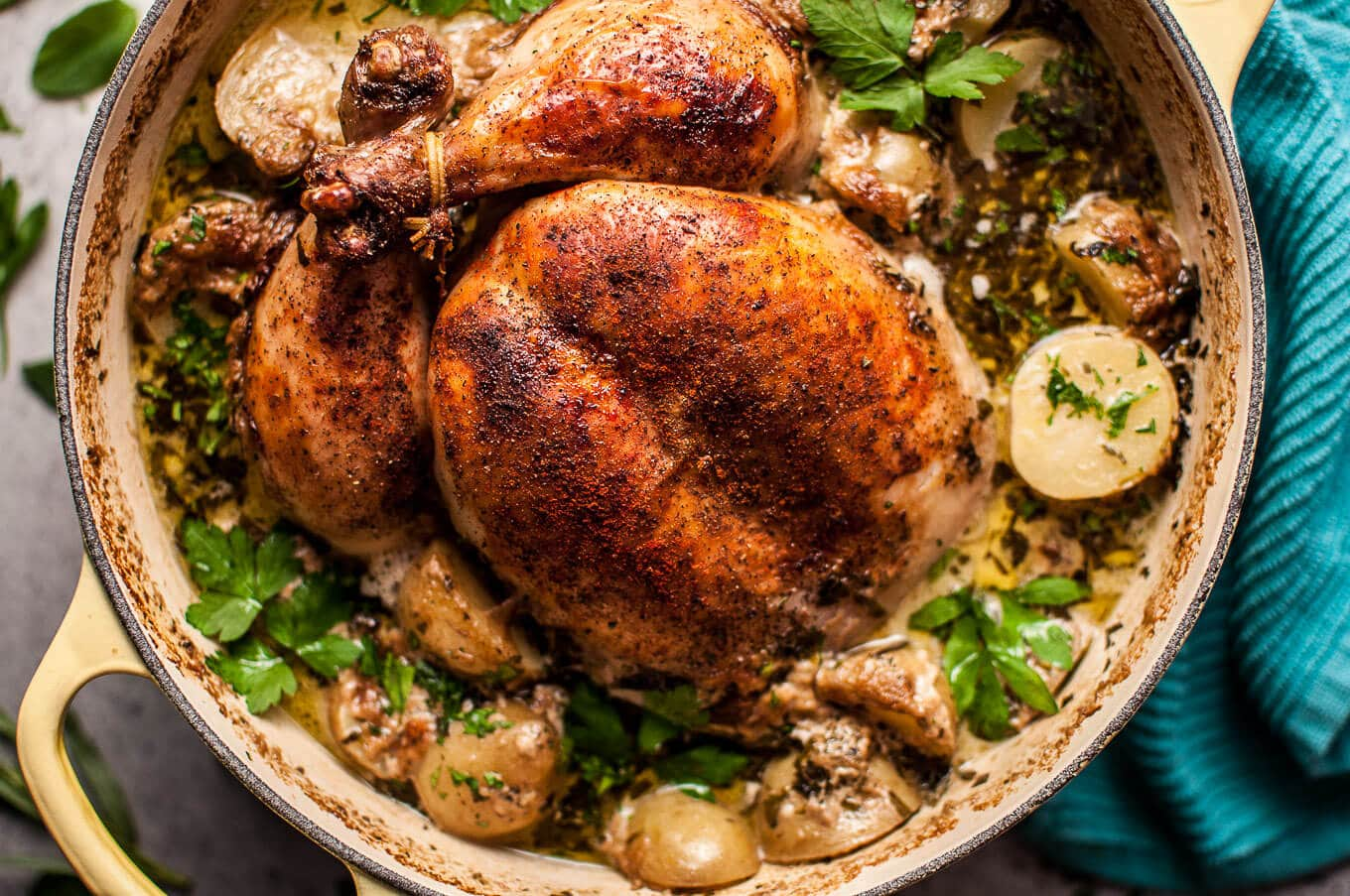 Herb Roasted Whole Chicken Recipe — Dishmaps