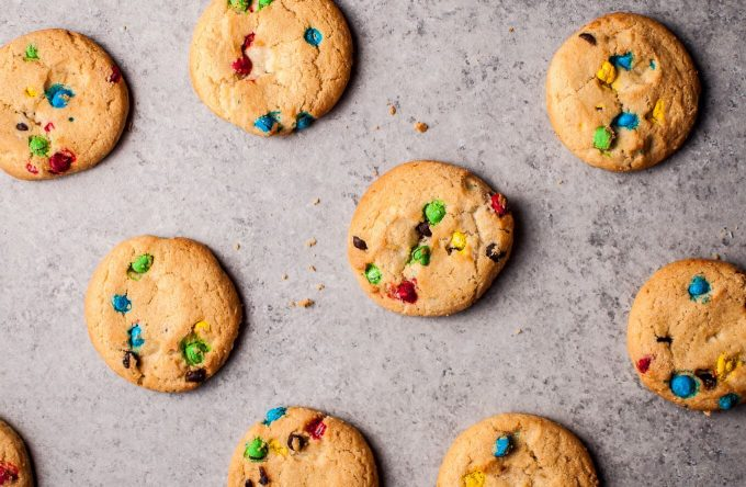 several Rainbow Chips Ahoy cookies