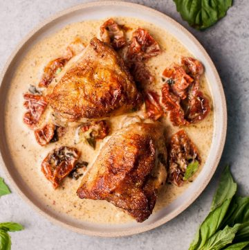 Crispy chicken in a creamy sun-dried tomato and basil sauce is comforting and decadent. You will love how easily these classic flavors come together for the perfect entree!