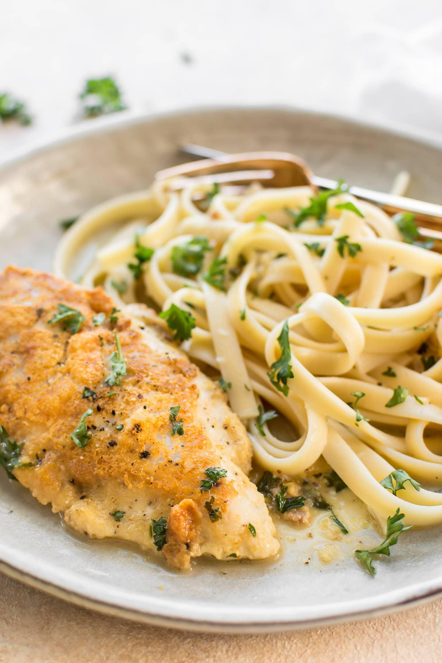 Easy Chicken Francese Recipe Salt Lavender