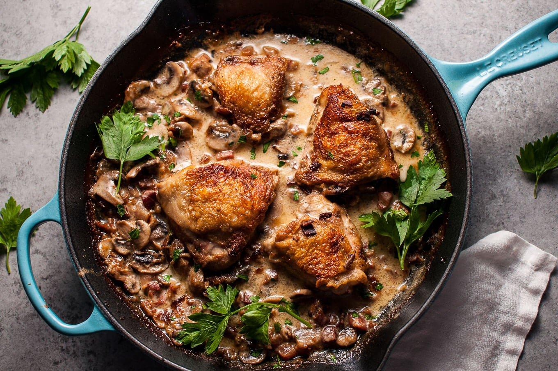Chicken With Pancetta Recipe — Dishmaps