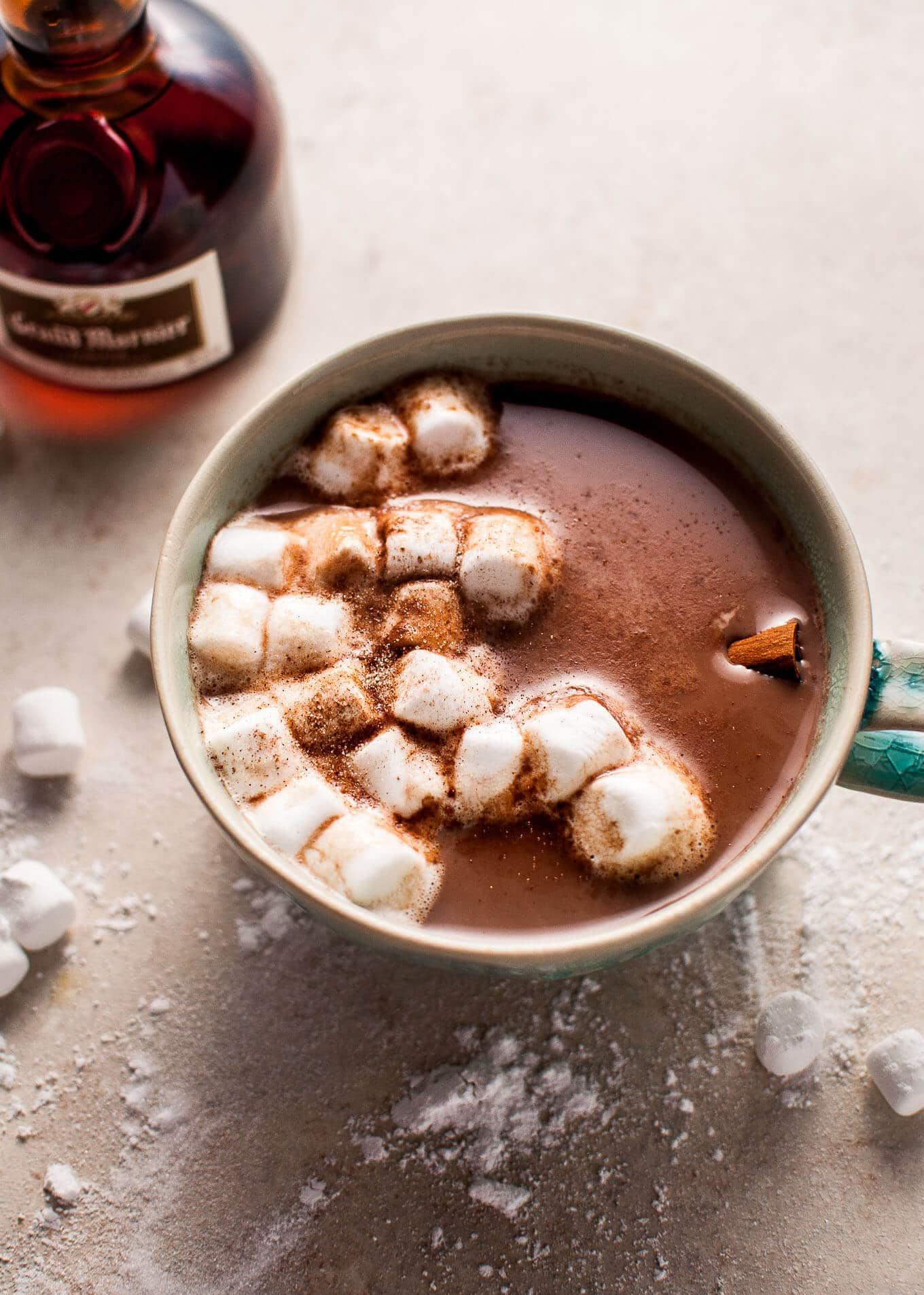 Orange Spiked Boozy Hot Chocolate • Salt & Lavender
