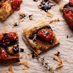 My roasted tomato puff pastry appetizer with a balsamic drizzle is a flavorfulvegetarian appetizer that will please a crowd!