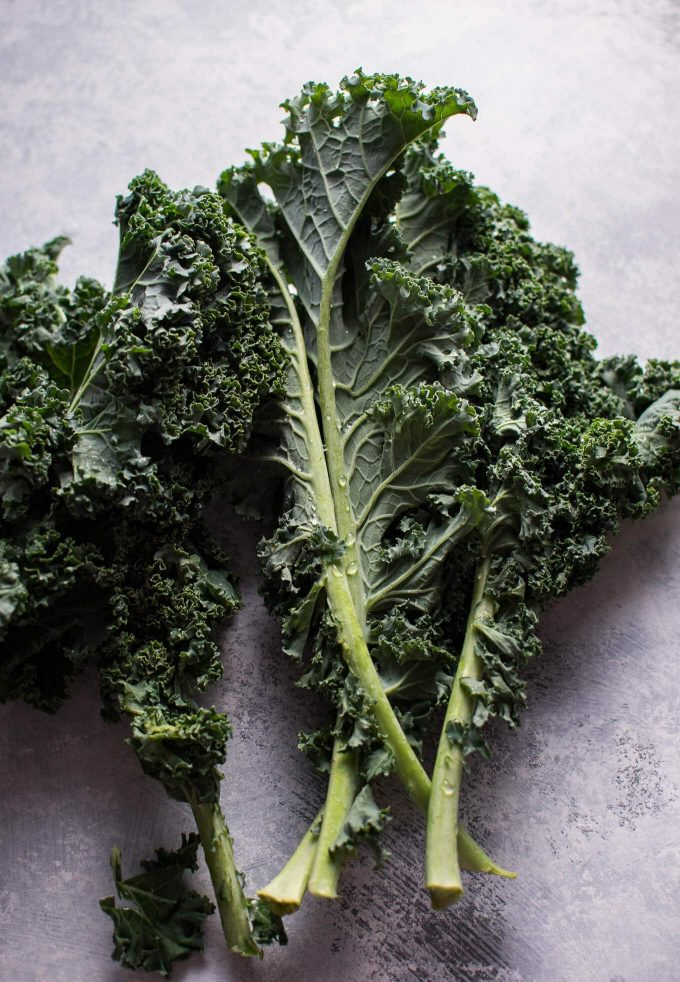Kale for this Tuscan chicken soup.