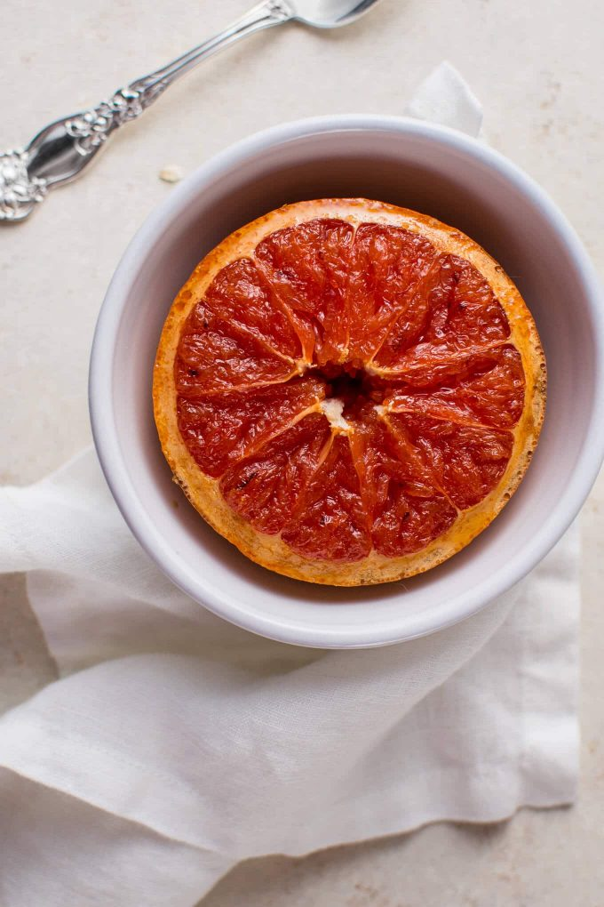 This grapefruit brûlée breakfast bowl is a pretty and refreshing breakfast or brunch idea.