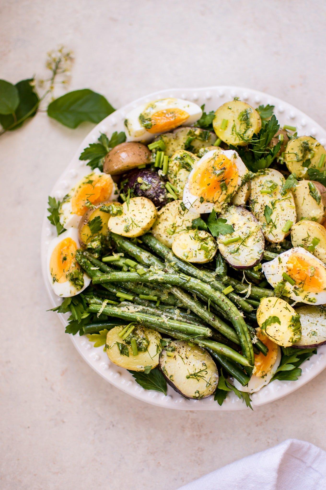 Potato and Green Bean Salad with Eggs • Salt & Lavender