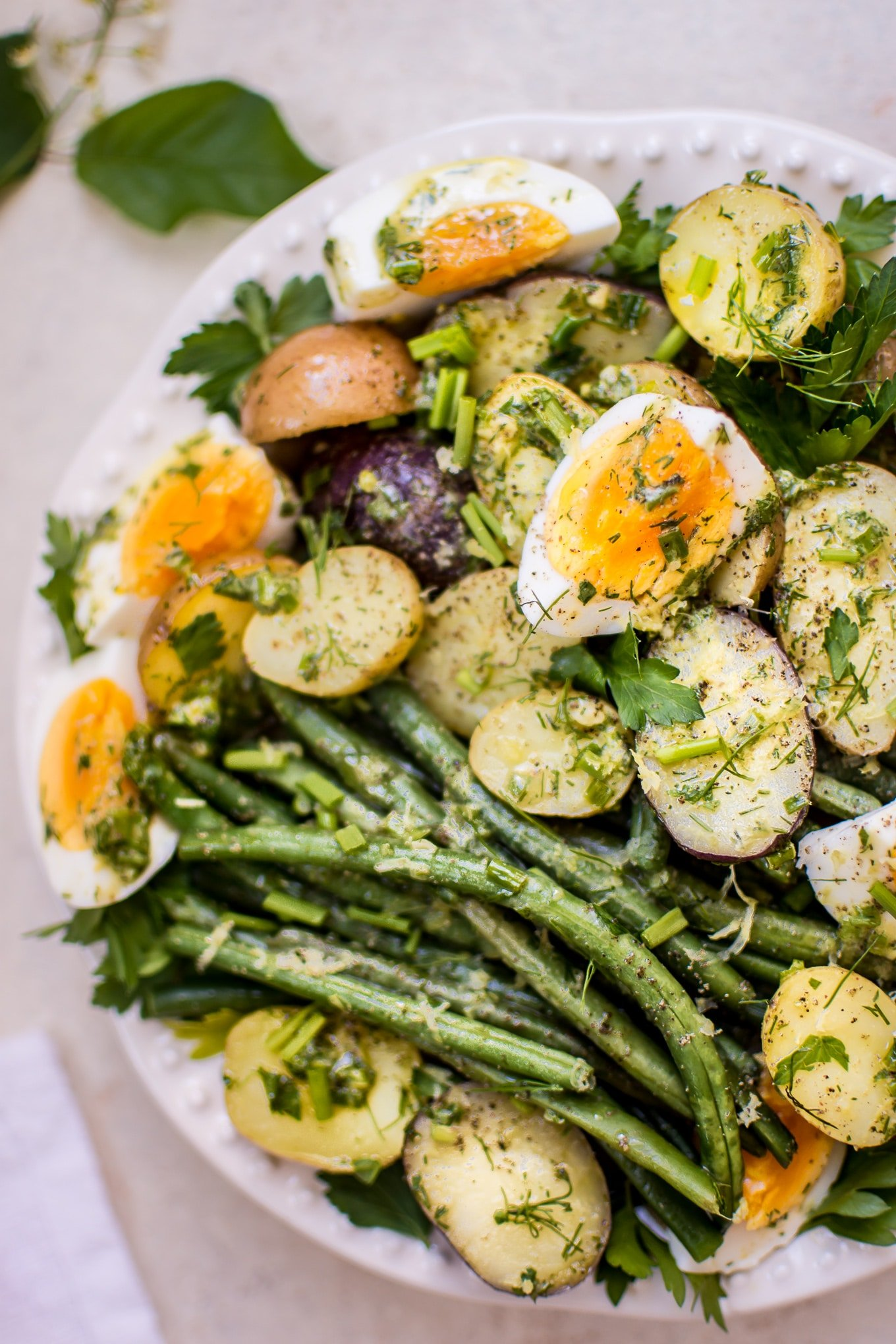 green beans and potato salad