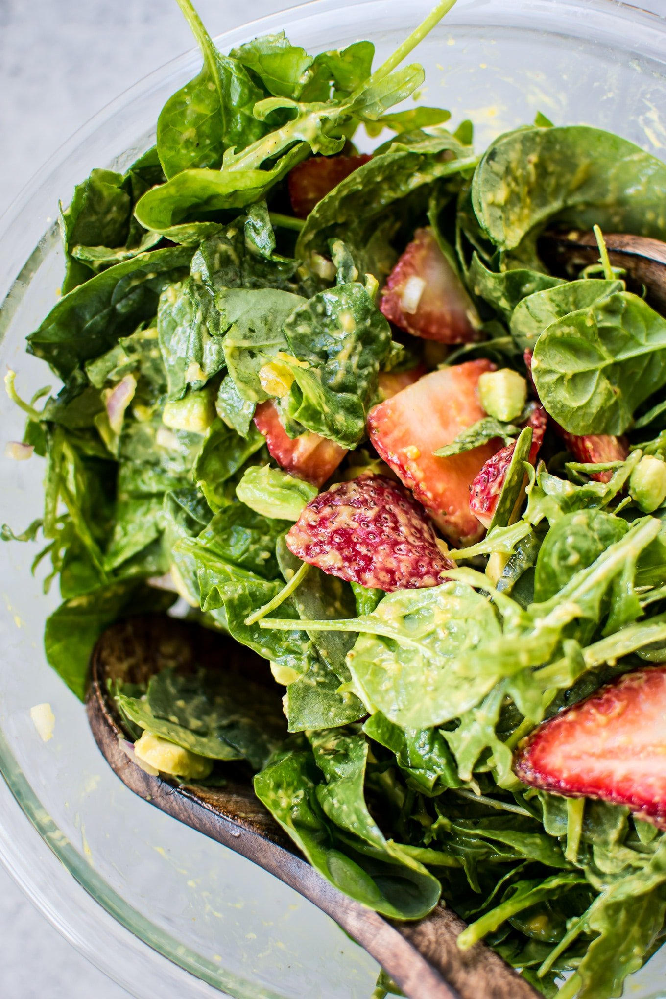 This Strawberry Spinach Salad With Mango Dressing Is A Fresh And Fruity Salad That Will Be