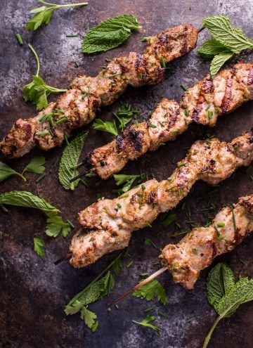 Vietnamese Lemongrass Grilled Pork Tenderloin Skewers