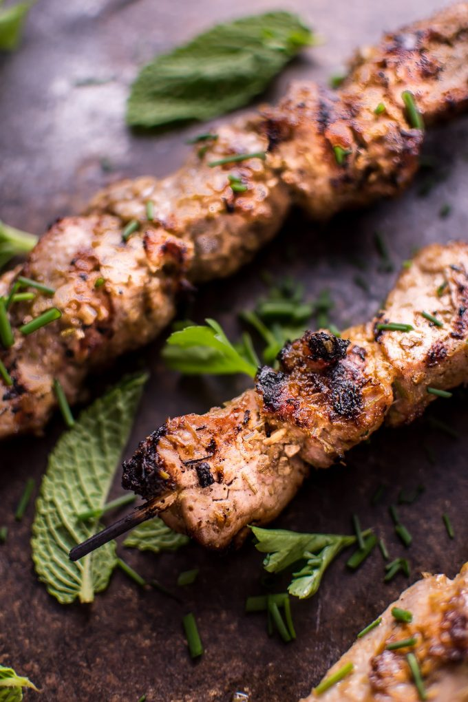 These grilled Vietnamese lemongrass pork tenderloin skewers are an easy dish that will remind you of your favorite Vietnamese restaurant!