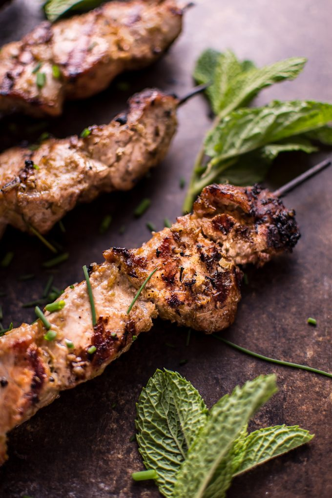 These Vietnamese lemongrass grilled pork tenderloin skewers are an easy dish that will remind you of your favorite Vietnamese restaurant!