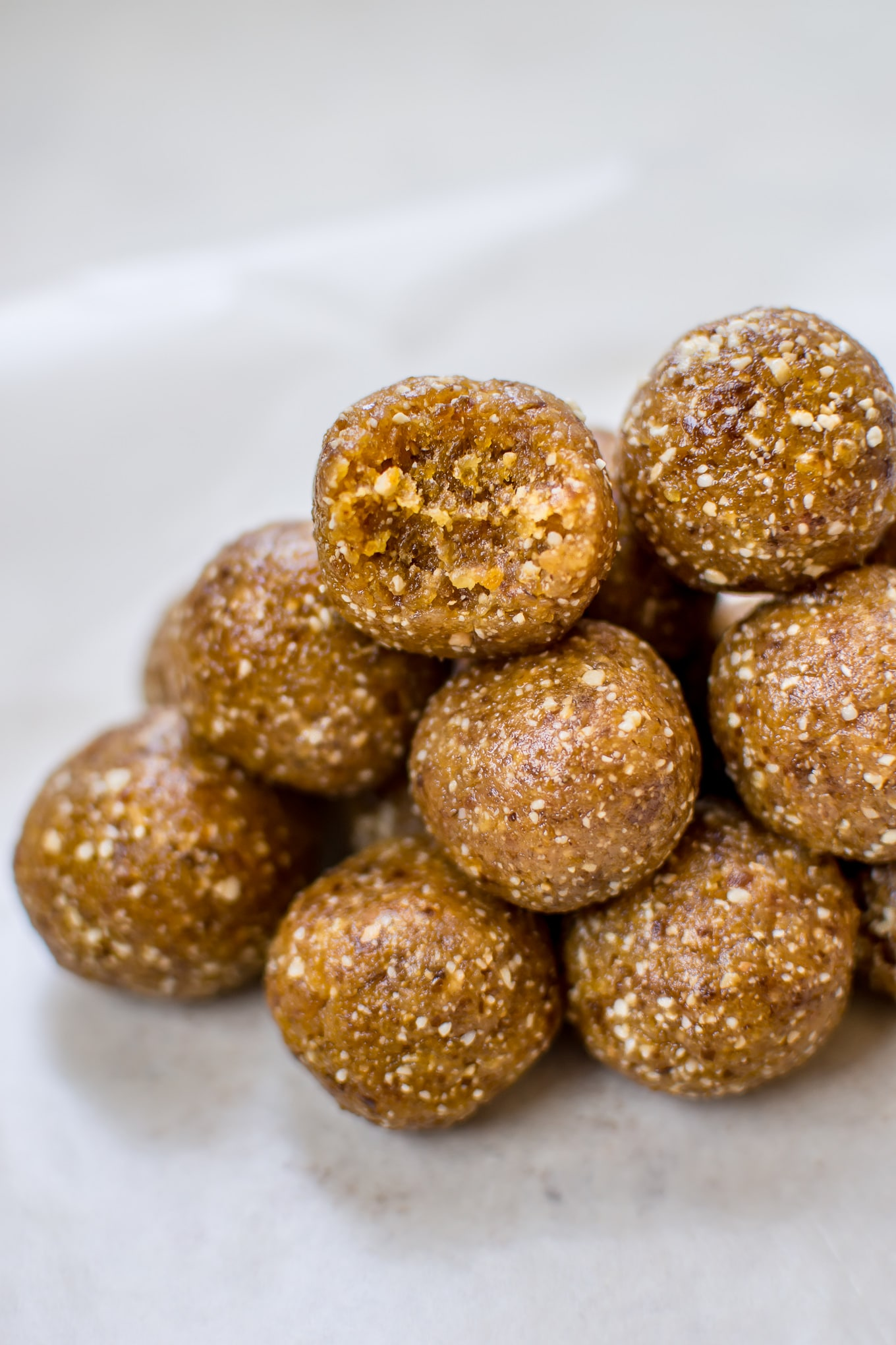 These apricot bliss balls are a tasty little snack that come together in a flash with only 3 ingredients!