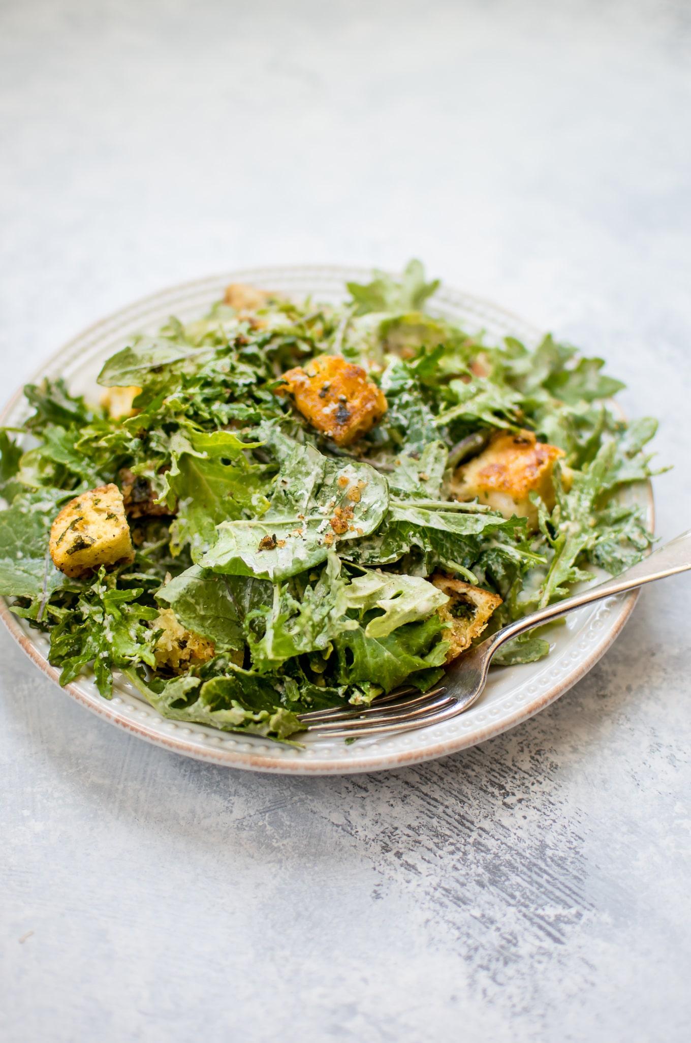 ... Salad with Lemon Dressing and Parmesan Croutons • Salt & Lavender