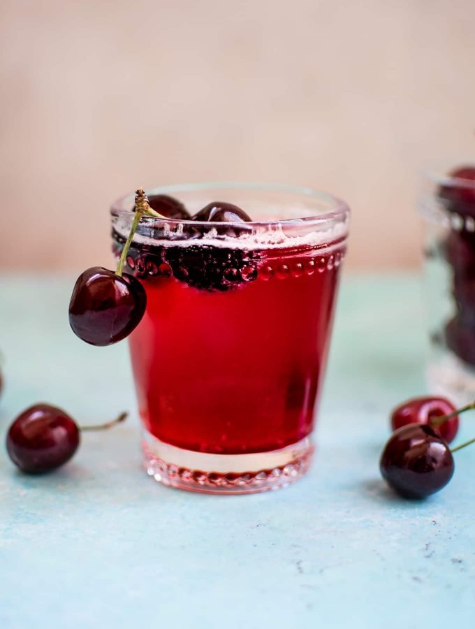 This homemade cherry vanilla soda is easy, delicious, and contains only 5 ingredients.