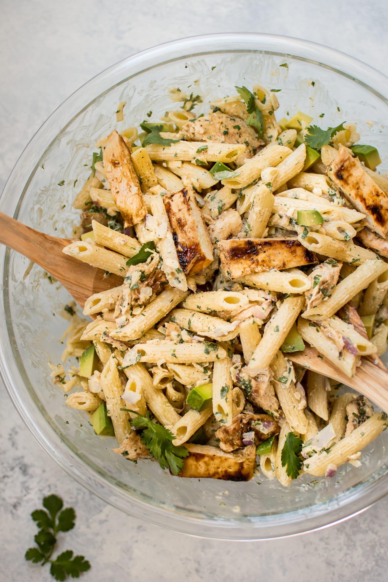 Grilled Chicken Pasta Salad Salt Lavender