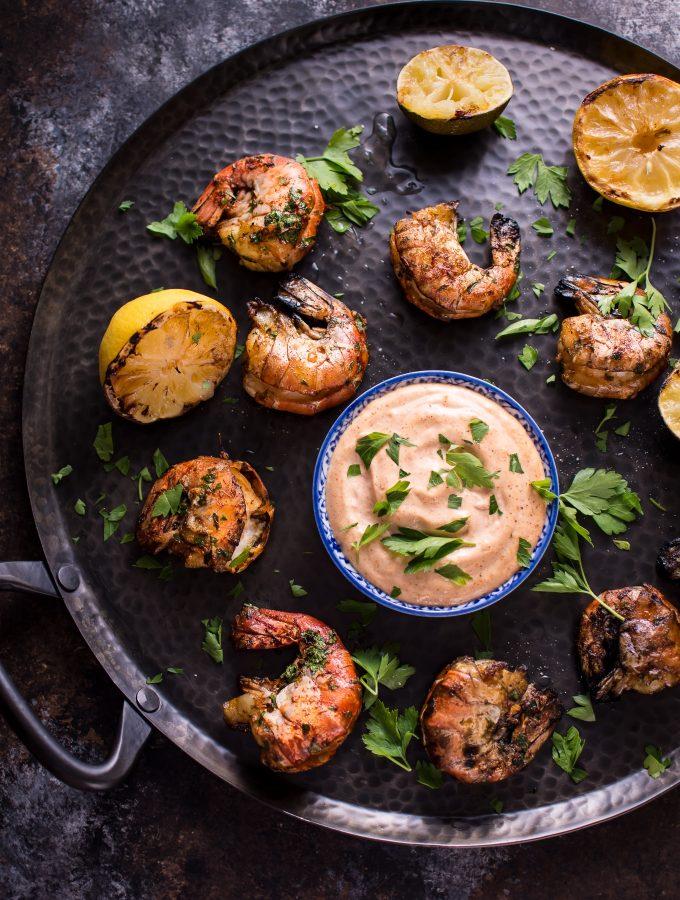 Grilled Garlic Jumbo Shrimp