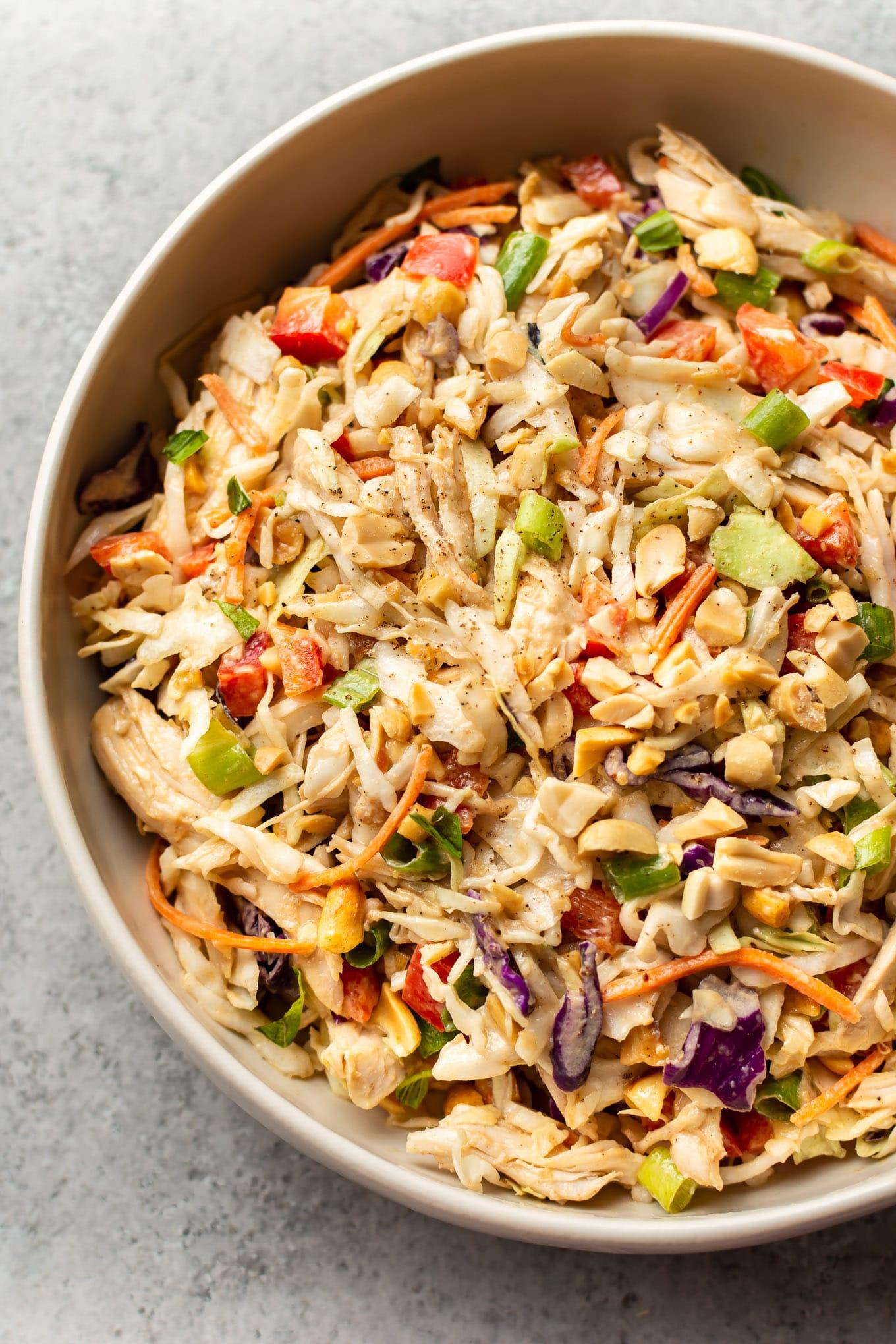 Thai Chicken Salad With Peanut Dressing Salt Lavender