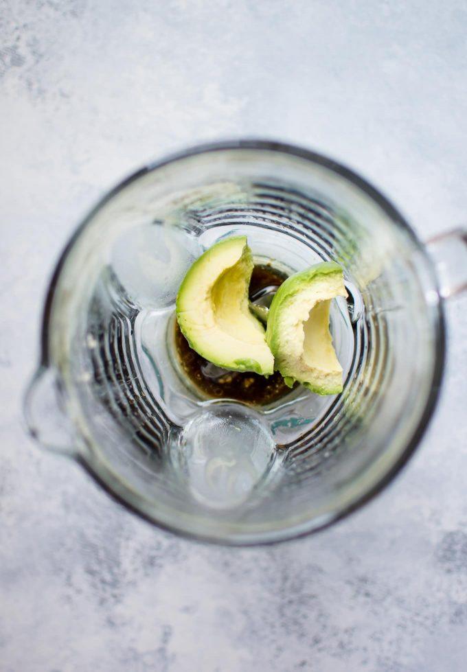 avocado in a blender