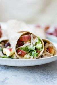 These Waldorf chicken salad wraps are fast, easy, and a tasty way to enjoy the classic recipe! Ready in only 15 minutes.