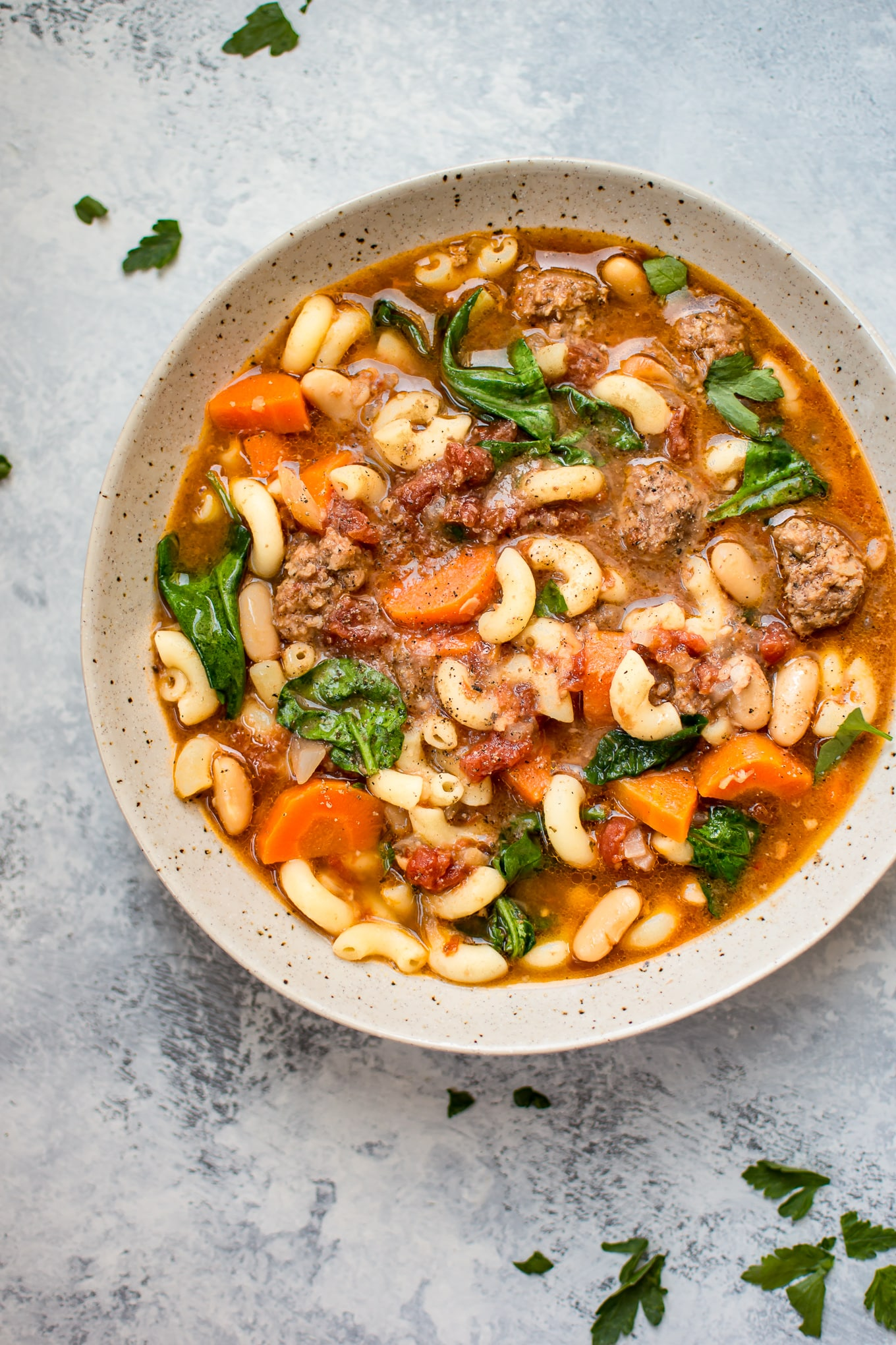 Crockpot Italian Sausage Soup • Salt & Lavender
