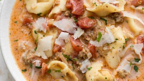 Italian Sausage Tortellini Soup • Salt & Lavender