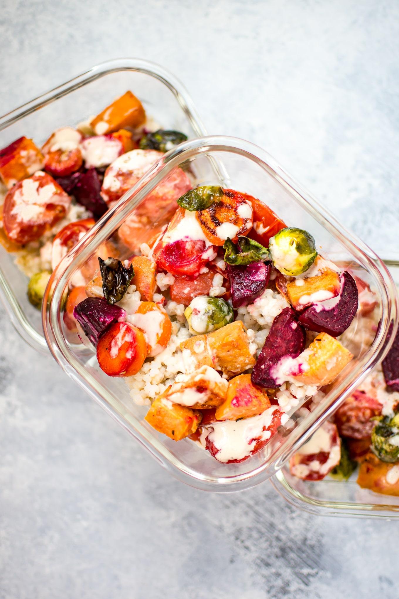 Roasted Vegetable Salad with Barley • Salt & Lavender