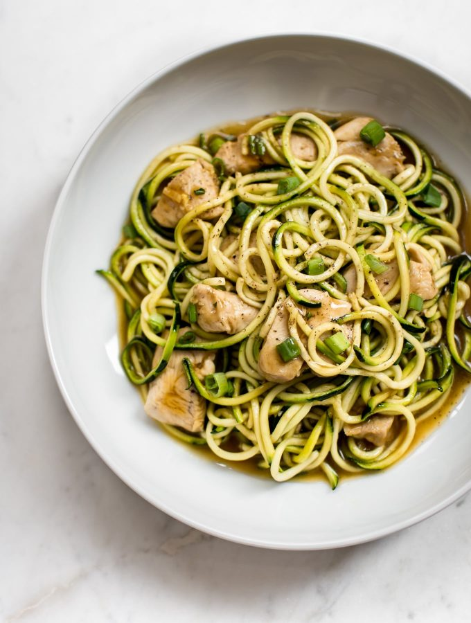 15 Minute Teriyaki Chicken Zoodles