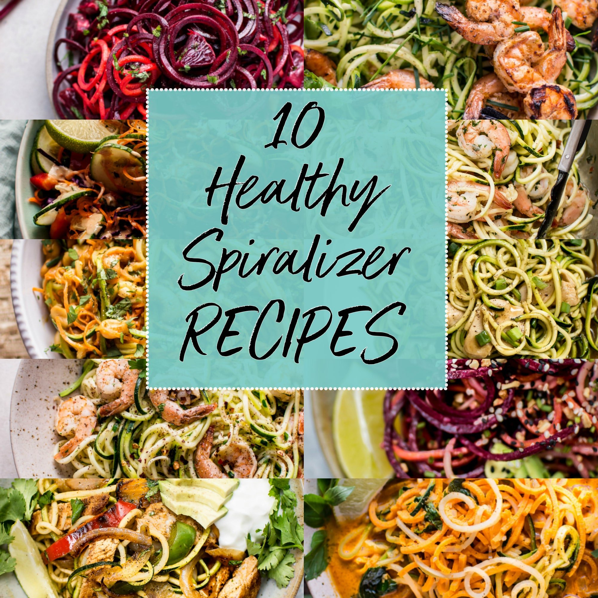 These 10 healthy spiralizer recipes are easy, delicious, low-carb, and simple to make. You just need a spiralizer and you're on your way!